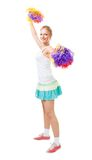 Styled professional woman cheer leader. Styled professional young woman cheer leader Royalty Free Stock Photography