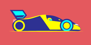 Styled racing car Stock Images