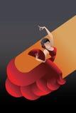 Styled Spain Flamenco dancer stock illustration