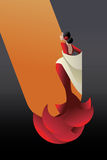 Styled Spain Flamenco dancer royalty free illustration