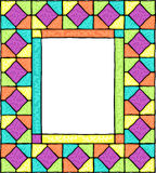 Styled stained glass frame. Royalty Free Stock Images