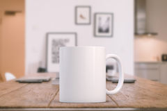 Styled Stock Mug Mockup Image. Mockup Styled Stock Product Image, white mug that you can add your design or quote to royalty free stock images