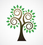 Styled Tree Vintage logo Royalty Free Stock Photo