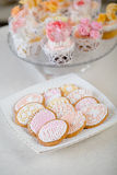 Styled wedding cookies Royalty Free Stock Image