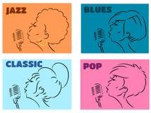 Styles musicaux photographie stock libre de droits