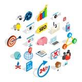 Styling icons set, isometric style. Styling icons set. Isometric set of 25 styling vector icons for web isolated on white background Royalty Free Stock Photo