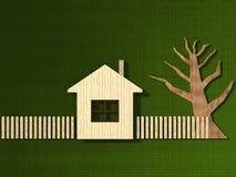 Stylingwooden房子 免版税库存图片