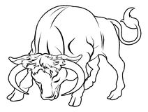 Stylised bull illustration vector illustration