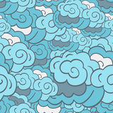 Stylised cloudy background Royalty Free Stock Photos