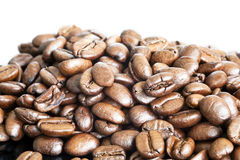 Stylised Coffee Bean. Stylised Shot of the humble coffee bean.  Low key lighting used for creative effect Royalty Free Stock Photo