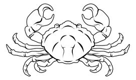 Stylised Crab illustration Stock Photography