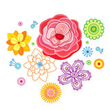 The stylised flowers. Stock Image