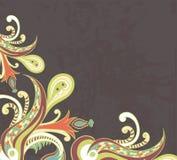 Stylised flowers on grunge background Stock Photo