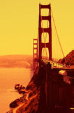 Stylised Golden Gate. Heavily stylised photograph of the Golden Gate Bridge in San Francisco California Stock Photo
