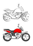 Stylised Motorcycle Vector Royalty Free Stock Image
