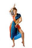 stylised orientaliskt för klänningflicka Royaltyfria Bilder