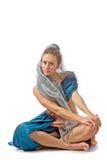 stylised orientaliskt för klänningflicka Royaltyfria Foton