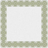 Stylised ornamental square border Royalty Free Stock Images
