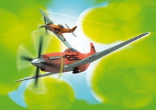 Stylised P-51D's in formation Stock Photos