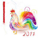 Stylised patterned rooster Stock Images