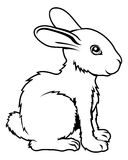 Stylised rabbit illustration Royalty Free Stock Photography