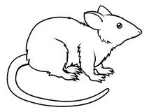 Stylised rat illustration Stock Photos