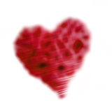 Stylised red heart stock images