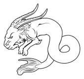 Stylised sea goat illustration Stock Photos