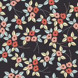 Stylised seamless poppy flower pattern Stock Photography
