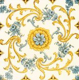 Stylised Tile. Decorative Victorian period wall tile c1890 Royalty Free Stock Photo
