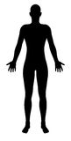 Stylised Unisex Human Figure Silhouette. A stylised unisex human figure standing in silhouette Stock Photography