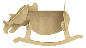 Stylised wooden rocking horse Stock Photos