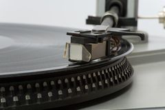 Stylish 20-years old turntable Royalty Free Stock Images