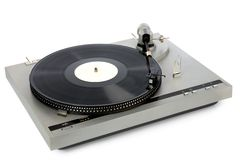 Stylish 20-years old turntable Royalty Free Stock Photography