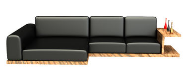 Stylish 3d sofa Stock Photography