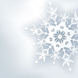 Stylish abstract background, 3d ornate snowflake. Winter gray background. New Year and Christmas card with place for text. Beautiful winter wallpaper. Vector Stock Photos