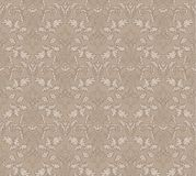 Stylish abstract beige floral vintage seamless pattern Stock Images
