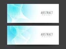 Stylish abstract header or banner set. Stock Image