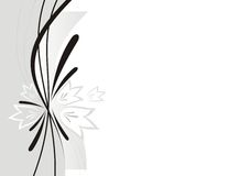 Stylish abstract illustration. The stylish abstract illustration consisting of strips and flowers vector illustration