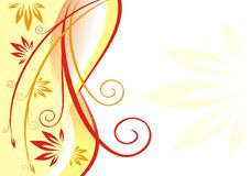 Stylish abstract illustration. The stylish abstract illustration consisting of strips and flowers stock illustration