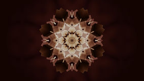 Stylish abstract mandala flower particles. 3D rendering Royalty Free Stock Images
