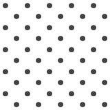 Stylish abstract seamless pattern with black graphic polka dot. Royalty Free Stock Photos