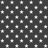 Stylish abstract seamless pattern with black graphic stars. Royalty Free Stock Image