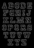 Stylish abstract set of letters for decoration inscriptions Stock Photo