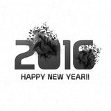 Stylish abstract text 2016 for Happy New Year. Stylish text 2016 with creative abstract design on shiny background for Happy New Year celebration stock illustration