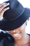 Stylish African woman with a lovely smile Royalty Free Stock Images