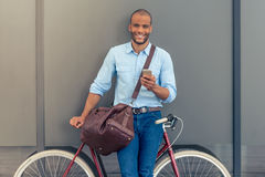 Stylish Afro American businessman Stock Images