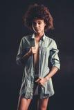 Stylish Afro American girl Stock Image