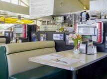 Stylish American Diner in Los Angeles - LOS ANGELES - CALIFORNIA - APRIL 20, 2017. Stylish American Diner in Los Angeles - LOS ANGELES - CALIFORNIA Royalty Free Stock Photo