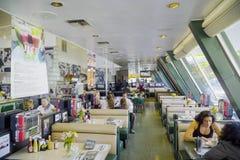 Stylish American Diner in Los Angeles - LOS ANGELES - CALIFORNIA - APRIL 20, 2017. Stylish American Diner in Los Angeles - LOS ANGELES - CALIFORNIA Stock Images